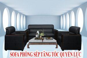 Sofa da màu đen phòng giám đốc FB180801