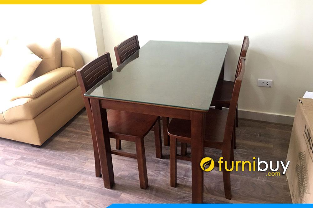 Ảnh bộ bàn ăn 4 ghế gỗ Sồi BA022