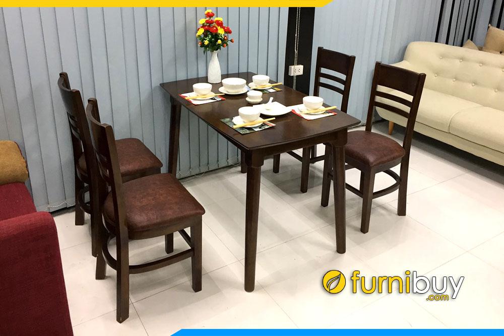 Ảnh bộ bàn ăn Cabin 4 ghế hiện đại cho nhà chung cư BA020
