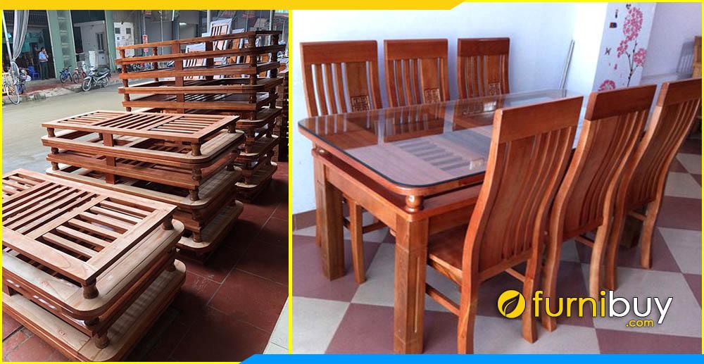 Hình ảnh Bộ bàn ăn 2 tầng giá rẻ Hà Nội BA014
