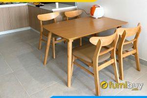 bộ bàn ăn 4 ghế mango đẹp giá rẻ tại nhà chị Hương BA023