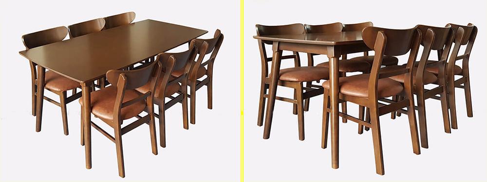 Hình ảnh Bộ bàn ăn 6 ghế mango giá rẻ Hà Nội BA037