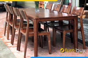 Hình ảnh Bộ bàn ăn gỗ sồi 8 ghế hiện đại BA014A