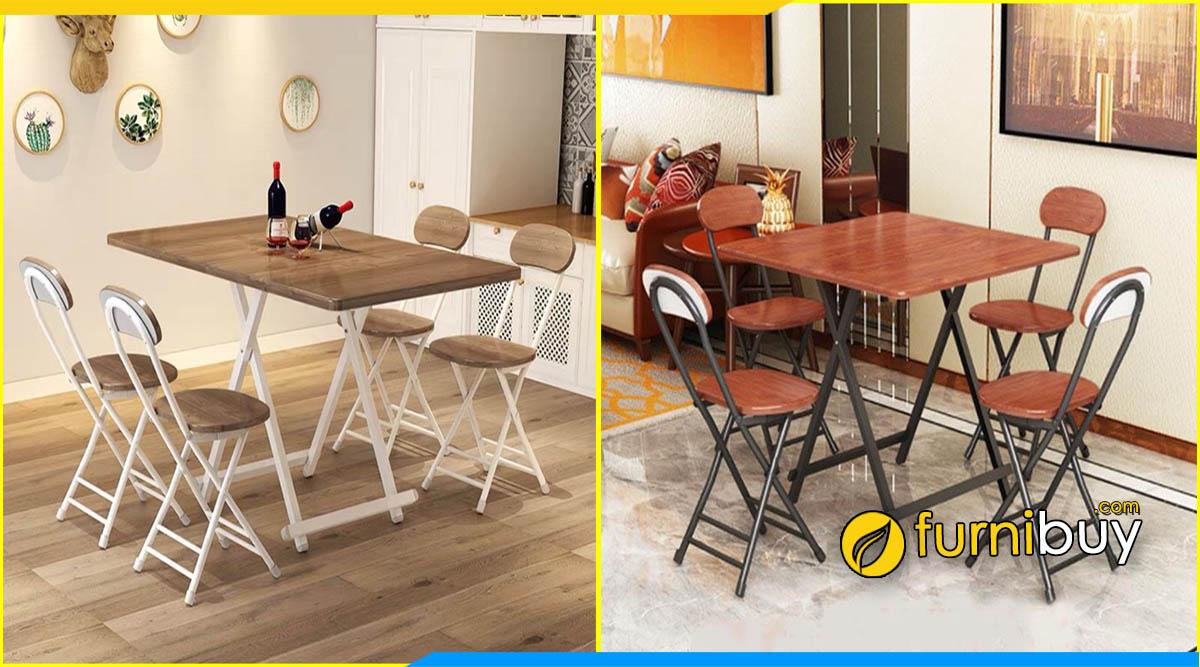 Bộ bàn ghế ăn gấp giá rẻ Hà Nội được ưa chuộng