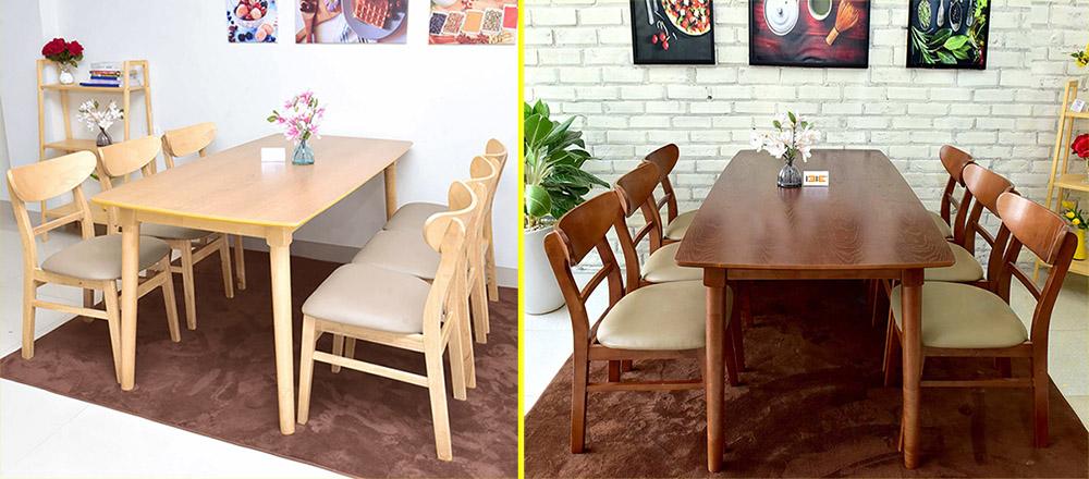Hình ảnh Bàn ghế ăn gia đình Mango 6 người BA037