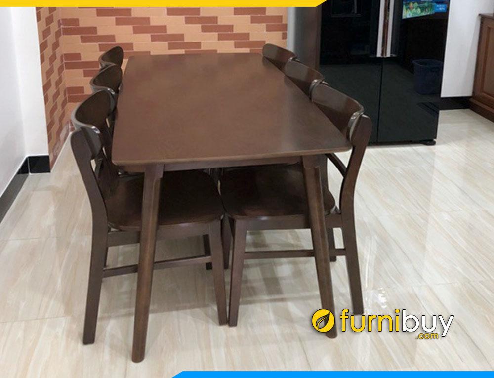 Hình ảnh Bộ bàn ghế ăn mango 6 người BA023 tại nhà anh Cường