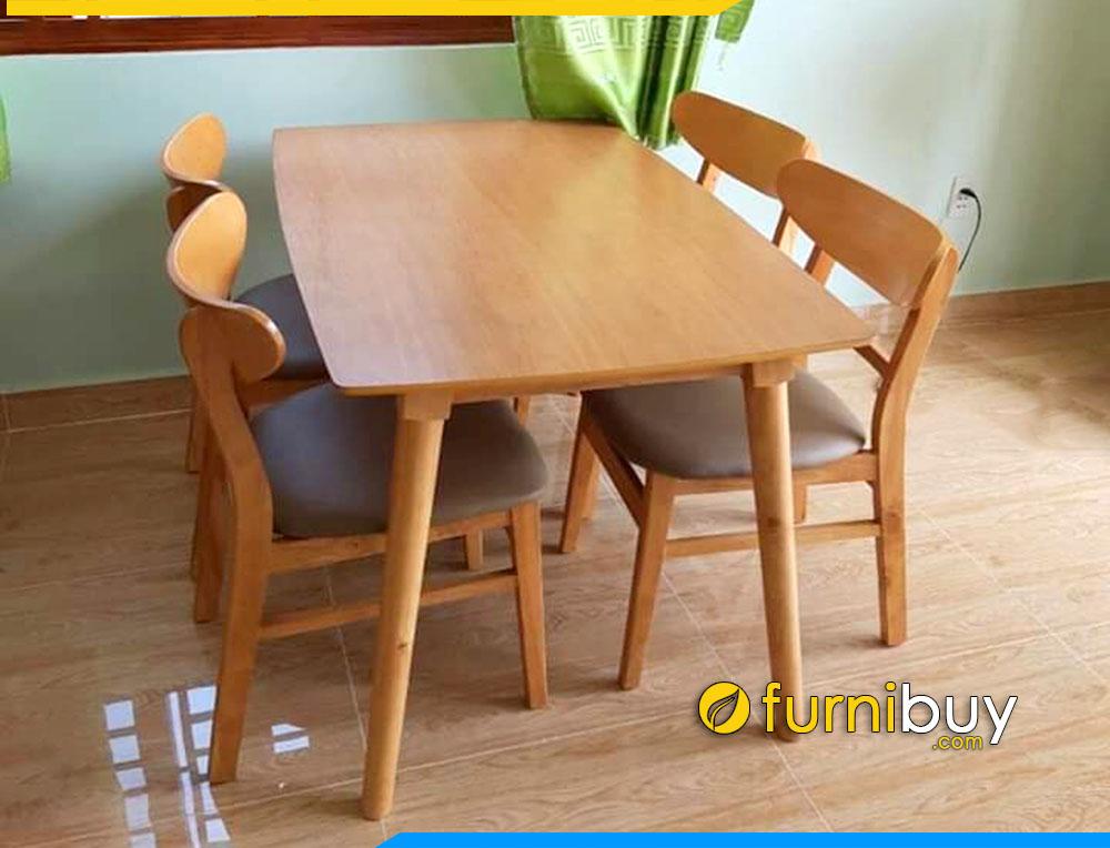 Hình ảnh Bộ bàn ghế ăn mango giá rẻ 4 người BA023 tại nhà bác Tâm