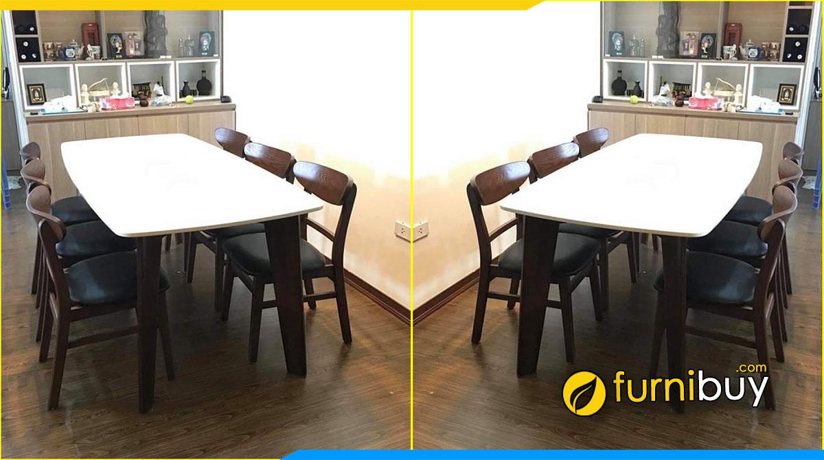 Hình ảnh Bộ bàn ăn chung cư mặt đá nhà anh Minh