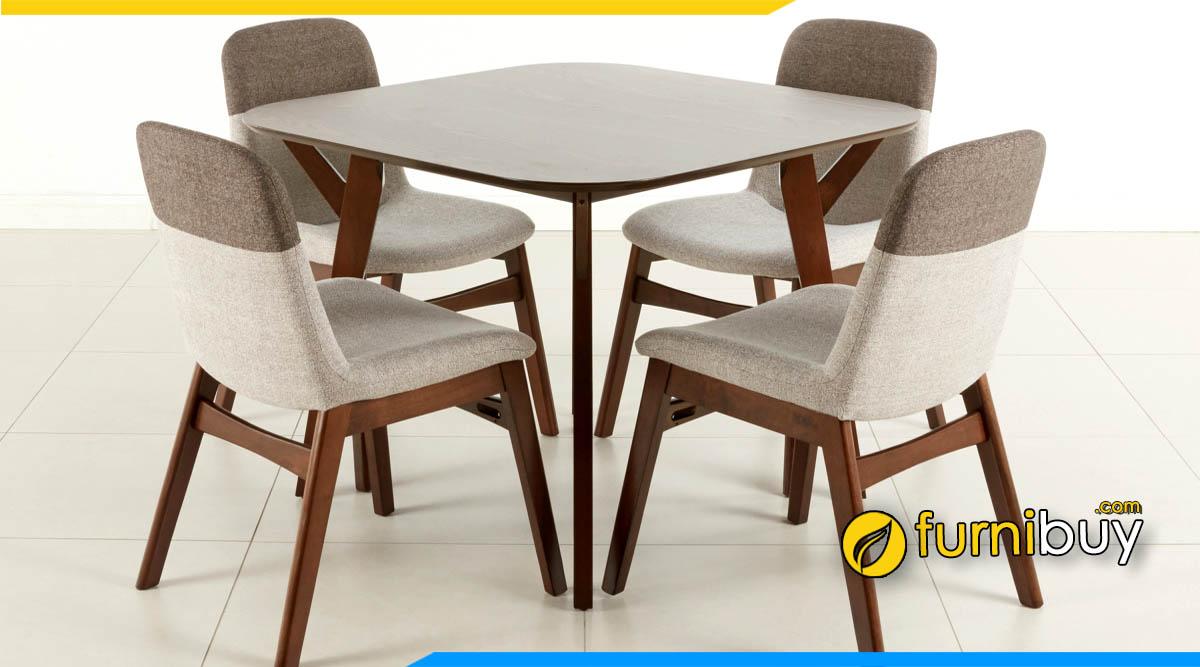 bộ bàn ghế ăn bọc nỉ hiện đại được ưa chuộng