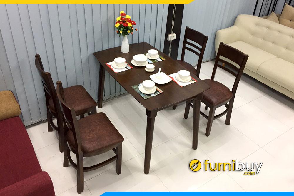 Hình ảnh Bộ bàn ghế ăn Cabin 4 chỗ gia đình giá rẻ BA020