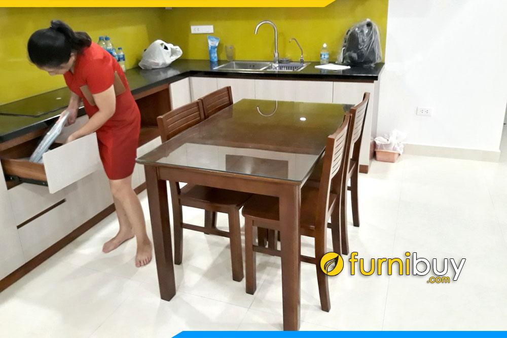 Hình ảnh bộ bàn ghế ăn cho gia đình giá rẻ BA022