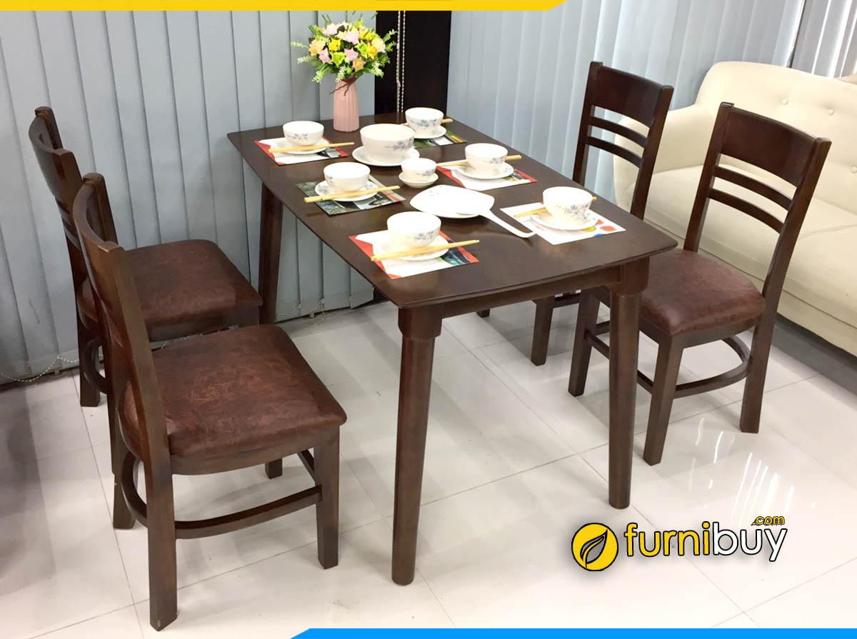 Bộ bàn ghế ăn đẹp giá rẻ Hà Nội BA020