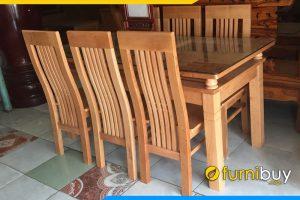 Hình ảnh Bộ bàn ghế ăn gia đình giá rẻ 5 nan BA014B