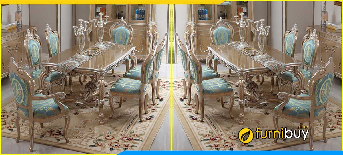 Hình ảnh Bộ bàn ghế ăn tân cổ điển đẹp Homeclassic