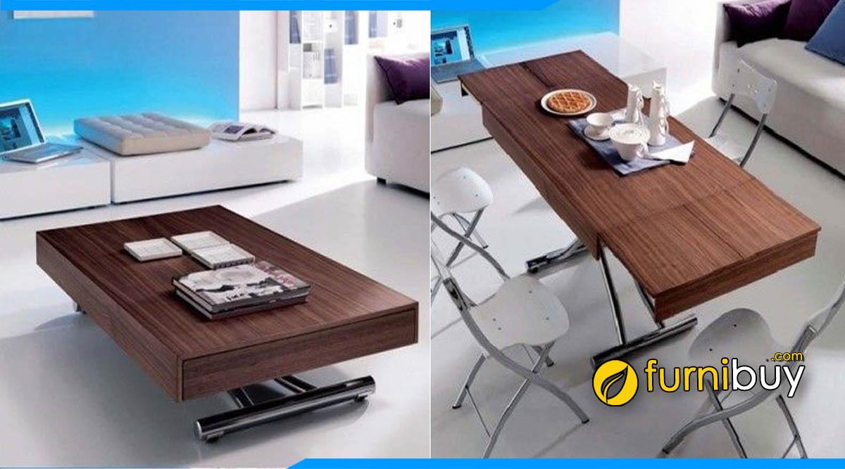 Hình ảnh Bộ bàn ghế ăn thông minh kết hợp bàn trà đẹp