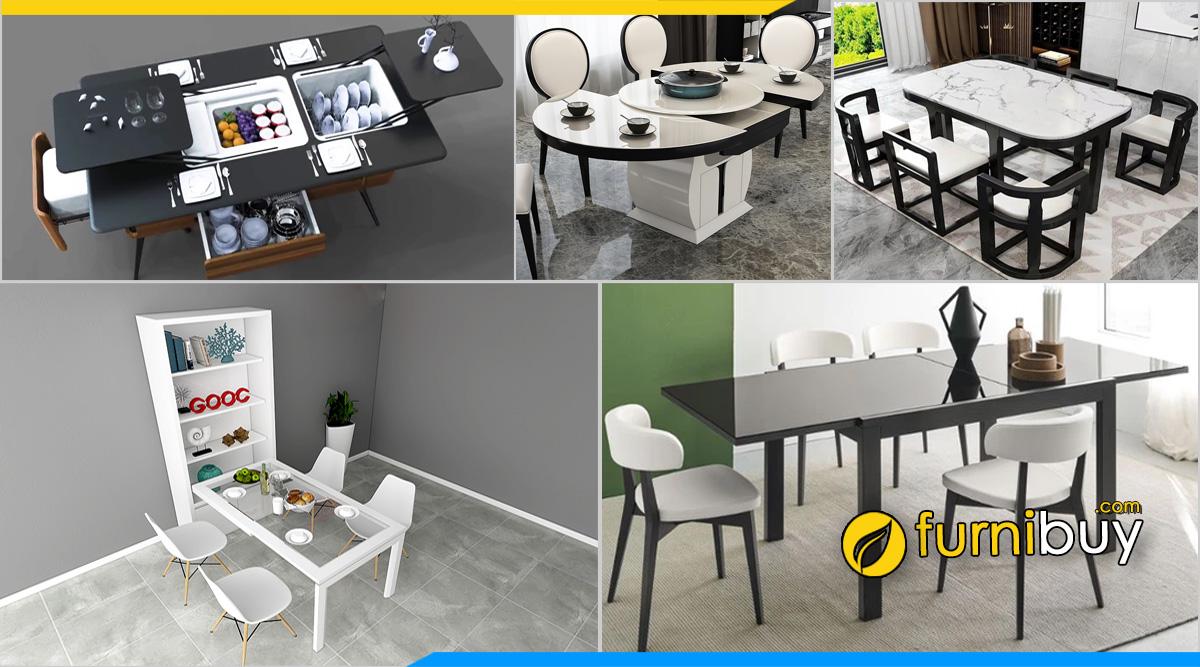 Các loại bàn ghế ăn thông minh được ưa chuộng nhất