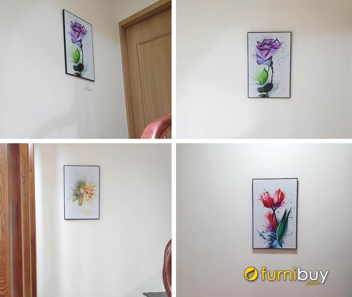 Hình ảnh Các mẫu tranh canvas Bắc Âu treo tường nhà cho thuê đẹp