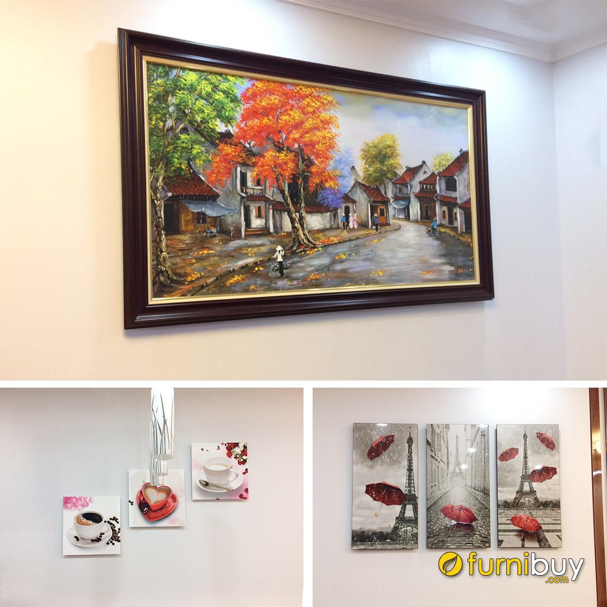 Hình ảnh Các mẫu tranh treo tường đẹp cùng chung 1 nhà
