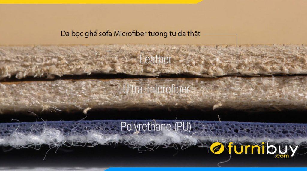 sofa da cong nghiep microfiber