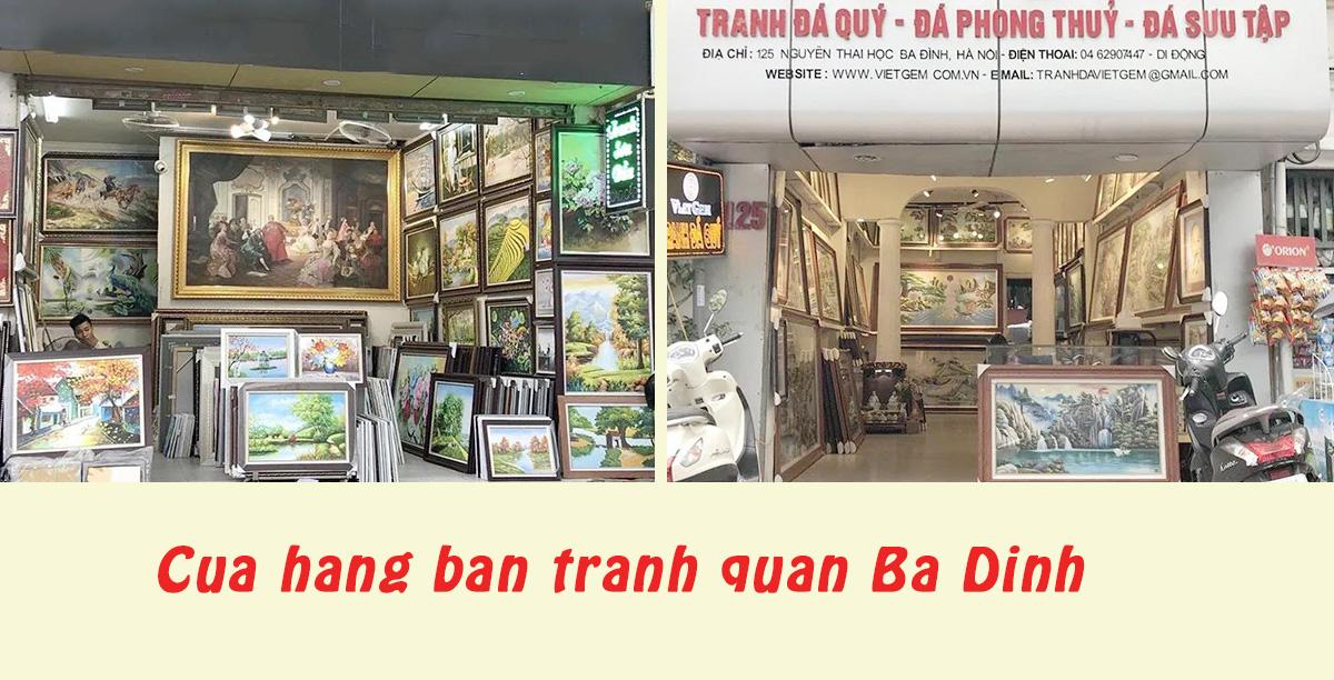 Hình ảnh Cửa hàng bán tranh quận Ba Đình về tranh sơn dầu và tranh đính đá