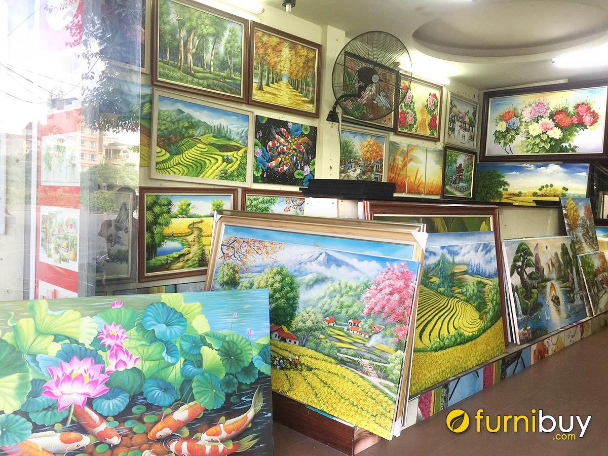 Hình ảnh Cửa hàng tranh sơn dầu tại Hà Nội cực nhiều mẫu đẹp
