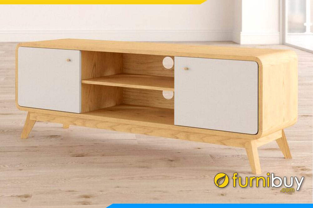 Góc nghiêng kệ tivi gỗ FBK106 đẹp