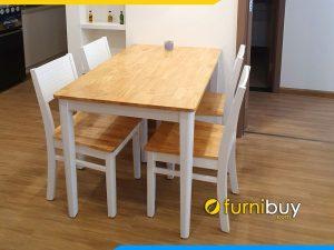 Hình ảnh bộ bàn ăn 4 ghế Cherry giá rẻ BA021 tại nhà khách hàng
