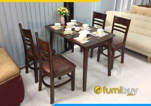 Hình ảnh bộ bàn ăn Cabin 4 ghế giá rẻ BA020