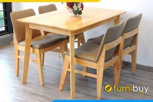 Hình ảnh bộ bàn ăn Obama 4 ghế hiện đại BA027