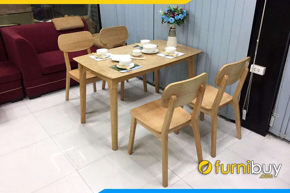 Hình ảnh bộ bàn ghế ăn gỗ Sồi BA031 đẹp