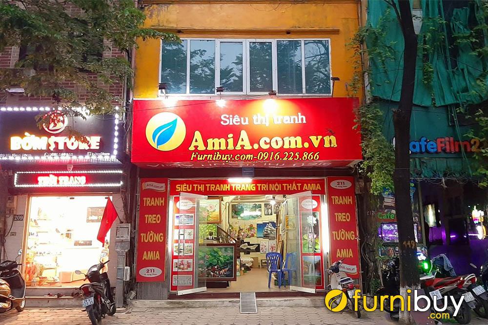 Hình ảnh cửa hàng bày bán tranh treo tường của Siêu thị tranh treo tường hiện đại AmiA