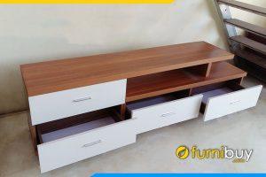 Hình ảnh kệ tivi gỗ công nghiệp 4 ngăn kéo giá rẻ KTV231