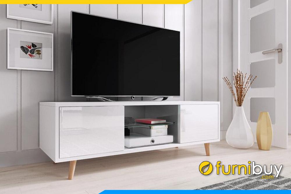 Hình ảnh kệ tivi gỗ đơn giản đẹp FBK102