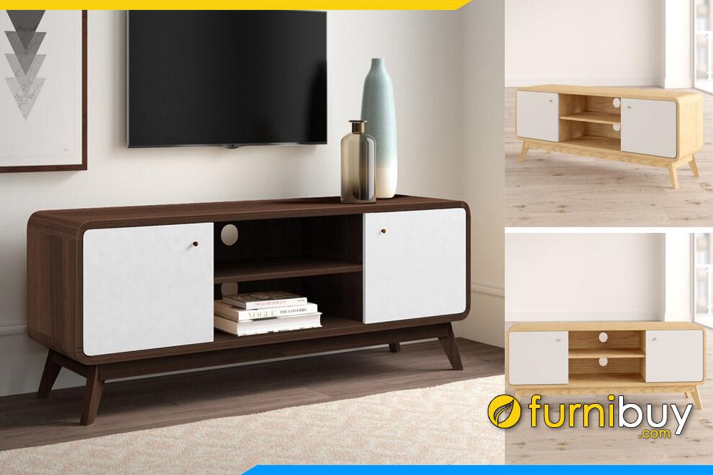 Hình ảnh Kệ tivi gỗ phòng khách chung cư đẹp FBK106