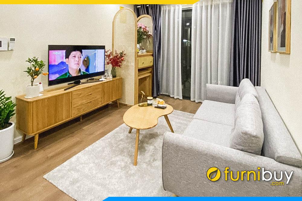 hình ảnh Mẫu kệ tivi phòng khách nhà ống đẹp 2m