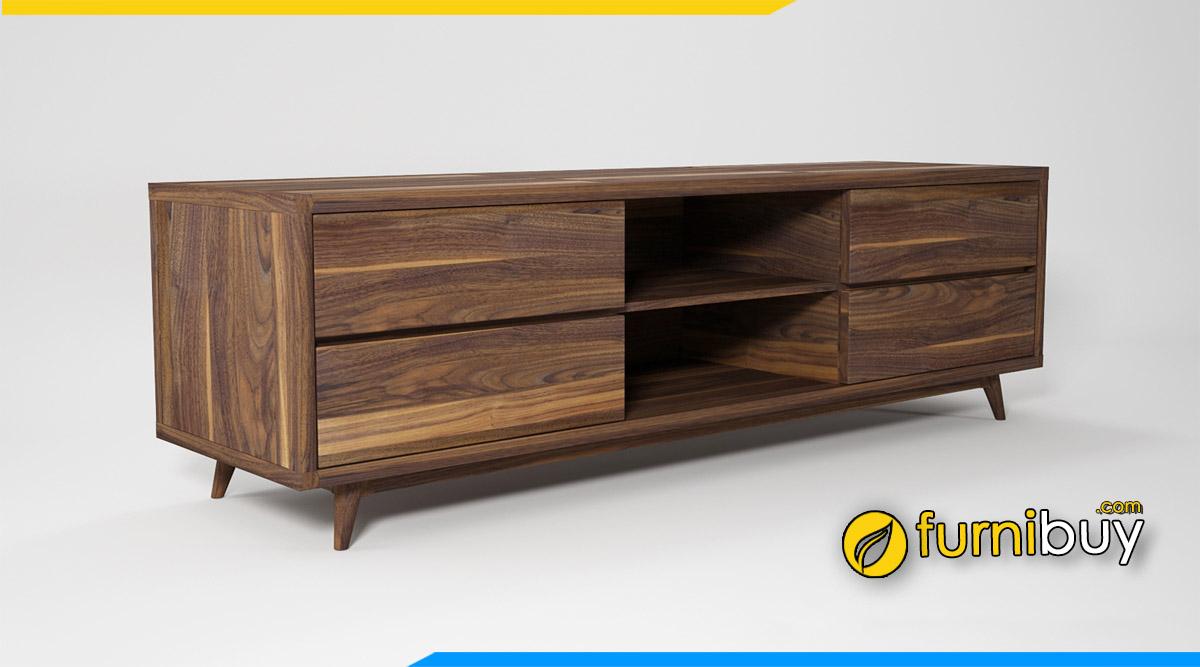 Mẫu kệ tivi phòng ngủ gỗ tự nhiên có nên mua không?