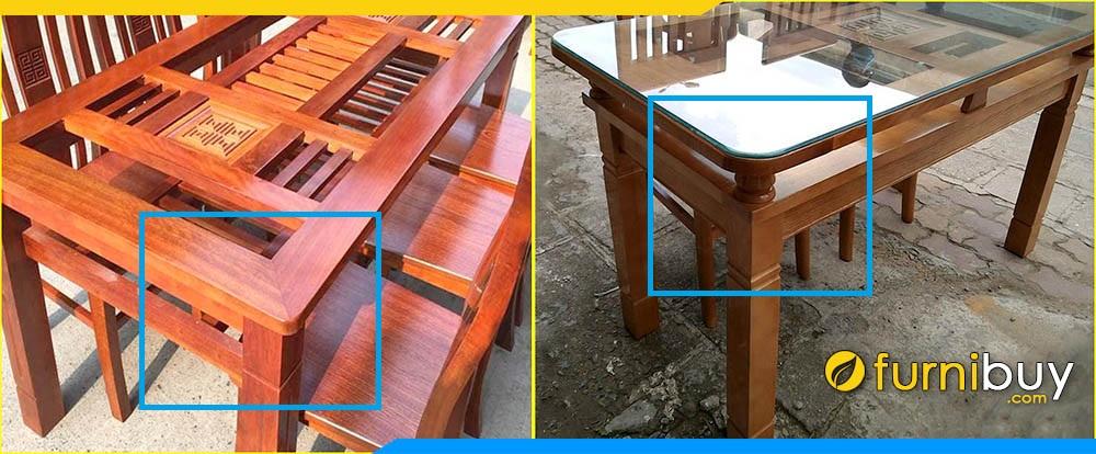 Hình ảnh Khung gỗ bàn ăn 2 tầng BA014
