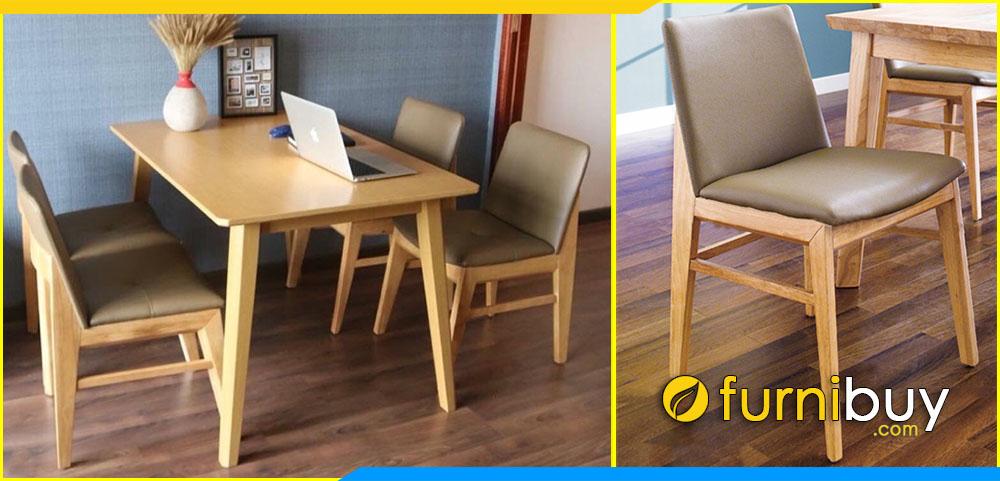 Hình ảnh Mẫu bàn ăn Obama 4 ghế chung cư đẹp BA027