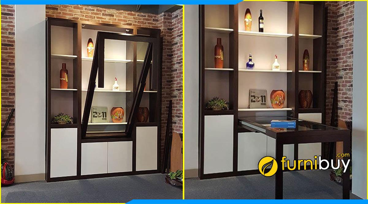 Hình ảnh mẫu bàn ghế ăn thông minh kết hợp tủ rượu đẹp