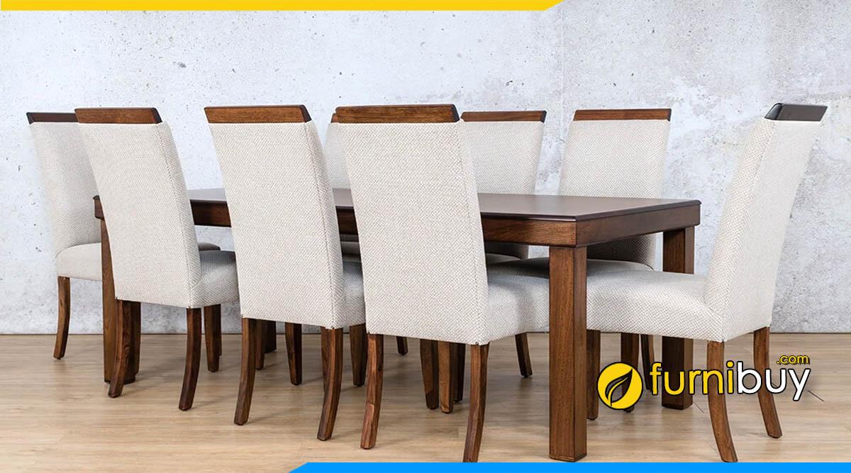 Hình ảnh Mẫu bàn ghế ăn nệm nỉ tân cổ điển phong cách tây