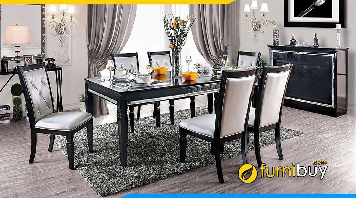 Mẫu bàn ghế ăn tân cổ điển đương đại sang trọng