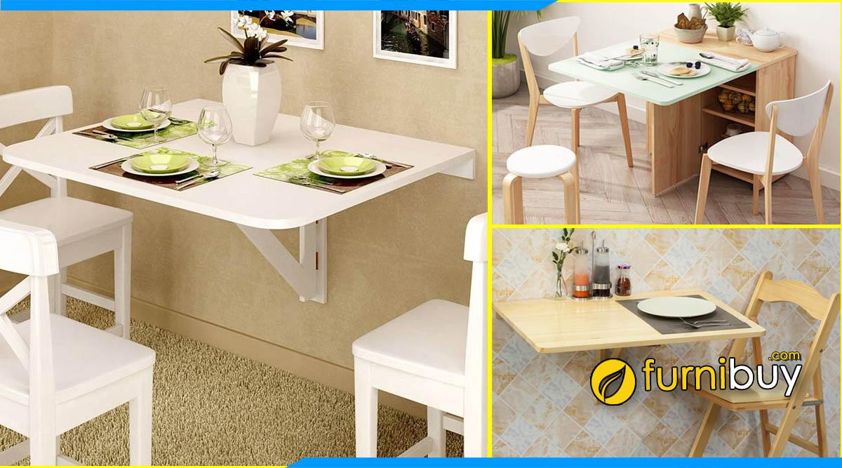 Hình ảnh Mẫu bàn ghế ăn thông minh gắn tường đẹp giá rẻ