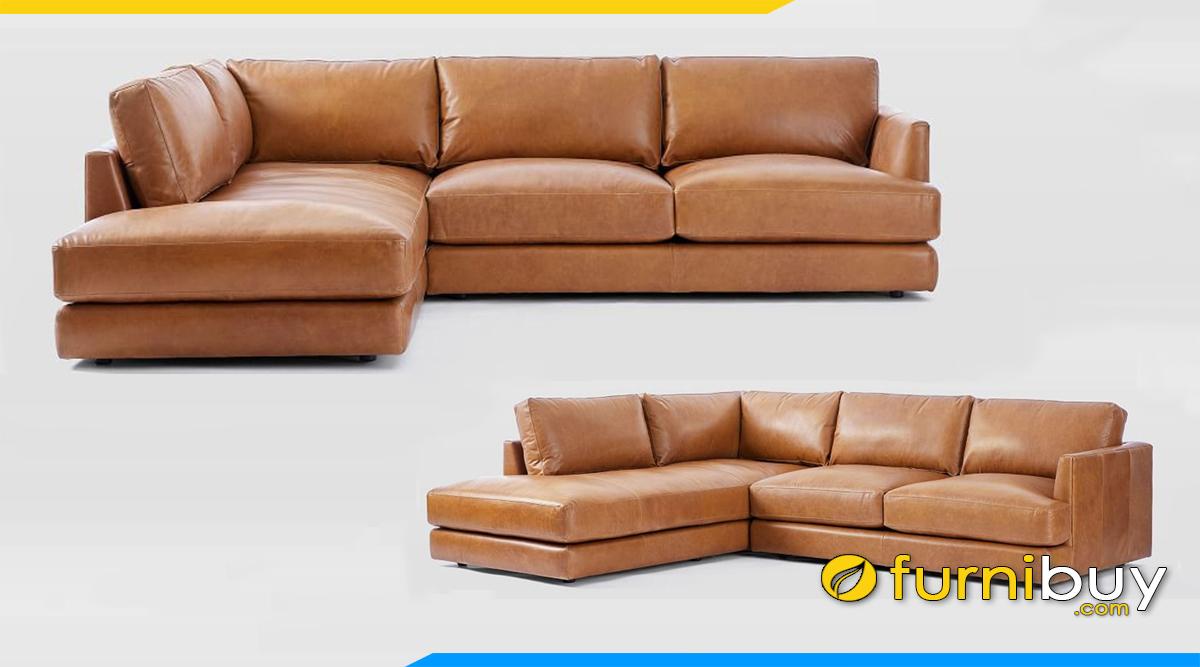 mau ghe sofa da that dang goc chu l