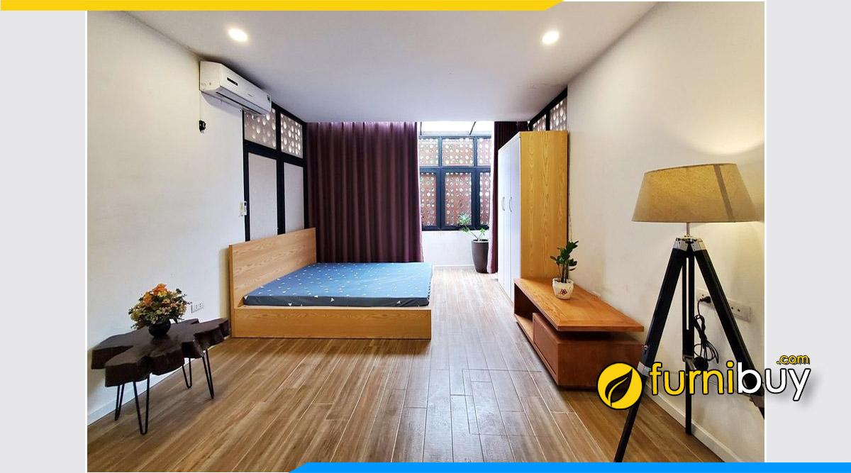 Mẫu kệ gỗ phòng ngủ cho chung cư mini 10m2