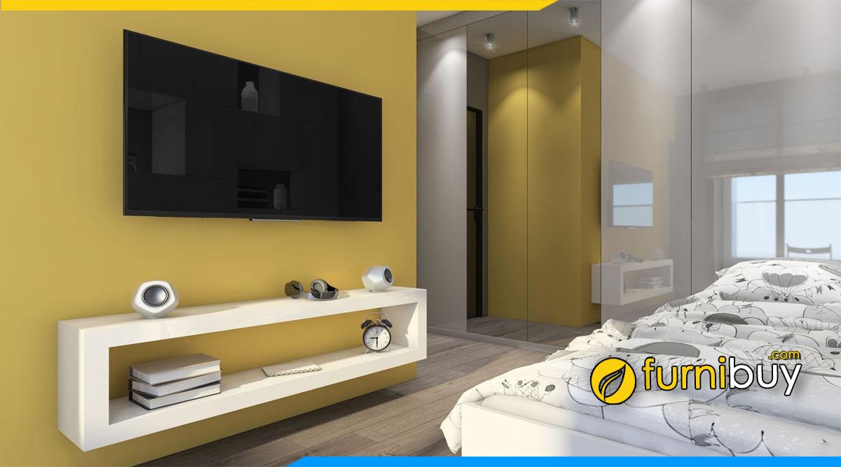 Hình ảnh mẫu kệ tivi đơn giản cho phòng ngủ đẹp