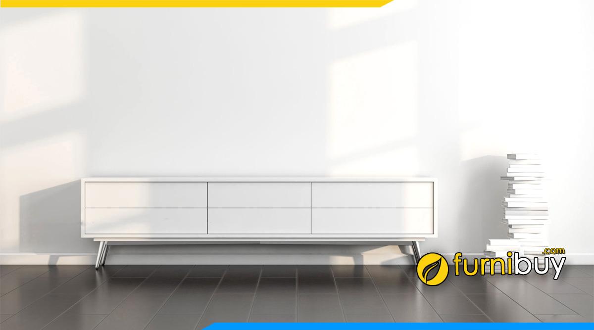 Hình ảnh Mẫu kệ tivi đơn giản màu trắng hiện đại