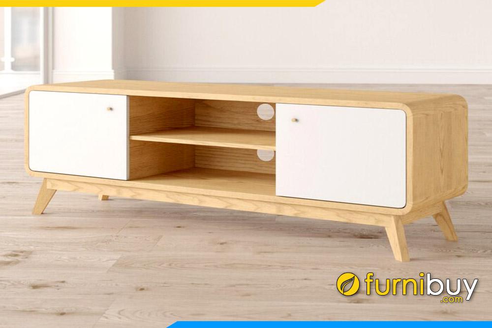 Hình ảnh Mẫu kệ tivi gỗ đẹp FBK106