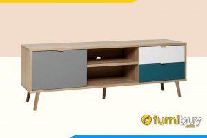 Hình ảnh Mẫu kệ tivi gỗ đơn giản FBK105