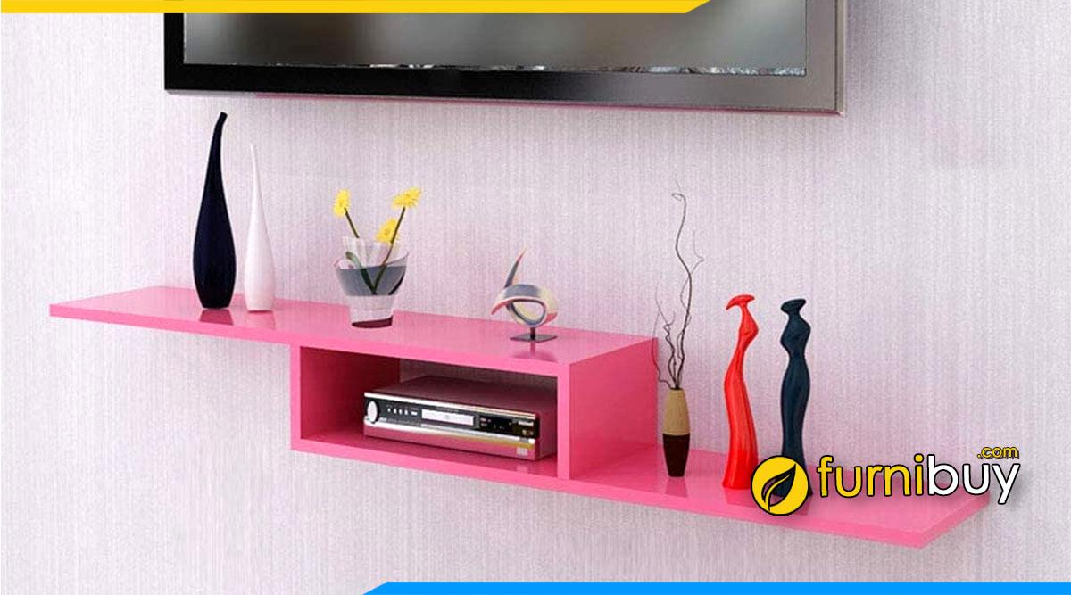 Hình ảnh Mẫu kệ tivi màu hồng cho phòng ngủ nữ giới đẹp