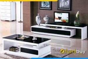 Hình ảnh Mẫu kệ tivi phòng khách đen trắng FBK103